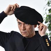 ベレー帽を被る時のワンポイント
