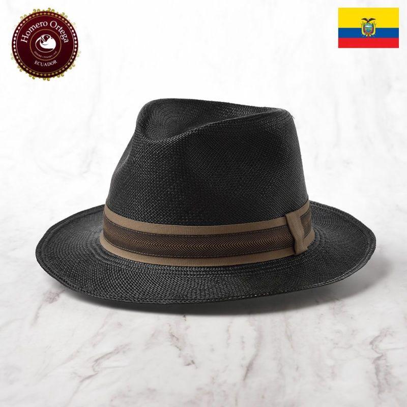 帽子 パナマハット Homero Ortega(オメロオルテガ) HABANO(ハバノ)ブラック