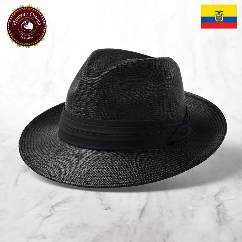 帽子 パナマハット Homero Ortega(オメロオルテガ) CAVALIERE REY(カバリエレ レイ)ブラック