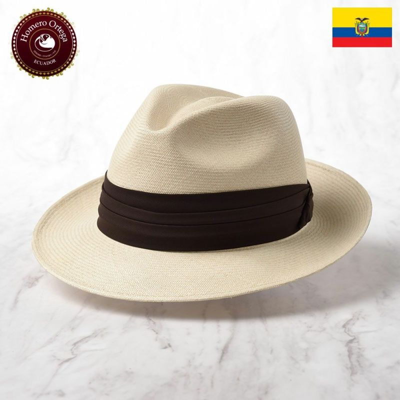 帽子 パナマハット Homero Ortega(オメロオルテガ) CAVALIERE NUEVO(カバリエレ ヌエボ)ナチュラル