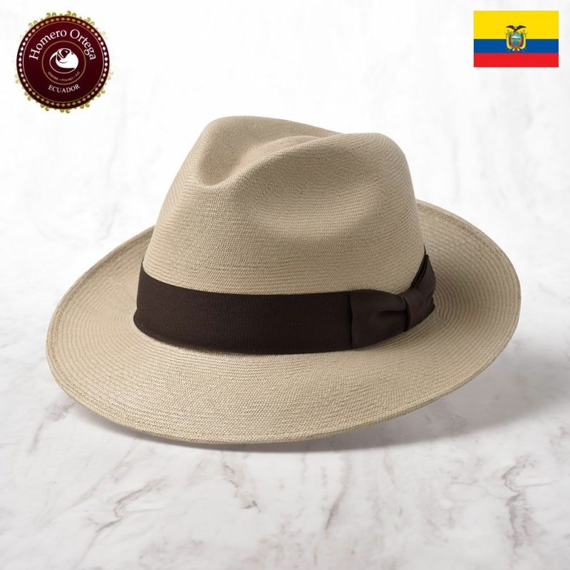 帽子 パナマハット Homero Ortega(オメロオルテガ) CAVALIERE JOVEN(カバリエレ コベン)ブラウン