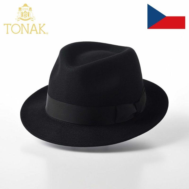帽子 フェルトハット TONAK(トナック) LARME(ラルム)ブラック