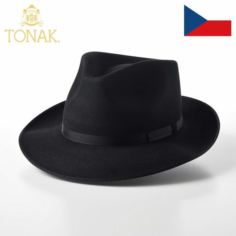 帽子 フェルトハット TONAK(トナック) VIOLA(ヴィオラ)ブラック