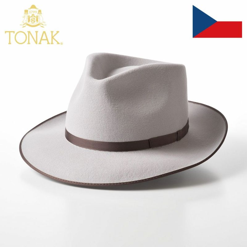 帽子 フェルトハット TONAK(トナック) VIOLA(ヴィオラ)ライトグレー