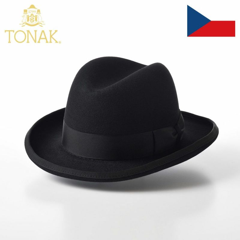 帽子 フェルトハット TONAK(トナック) OPRAVIT(オプラビット)ブラック