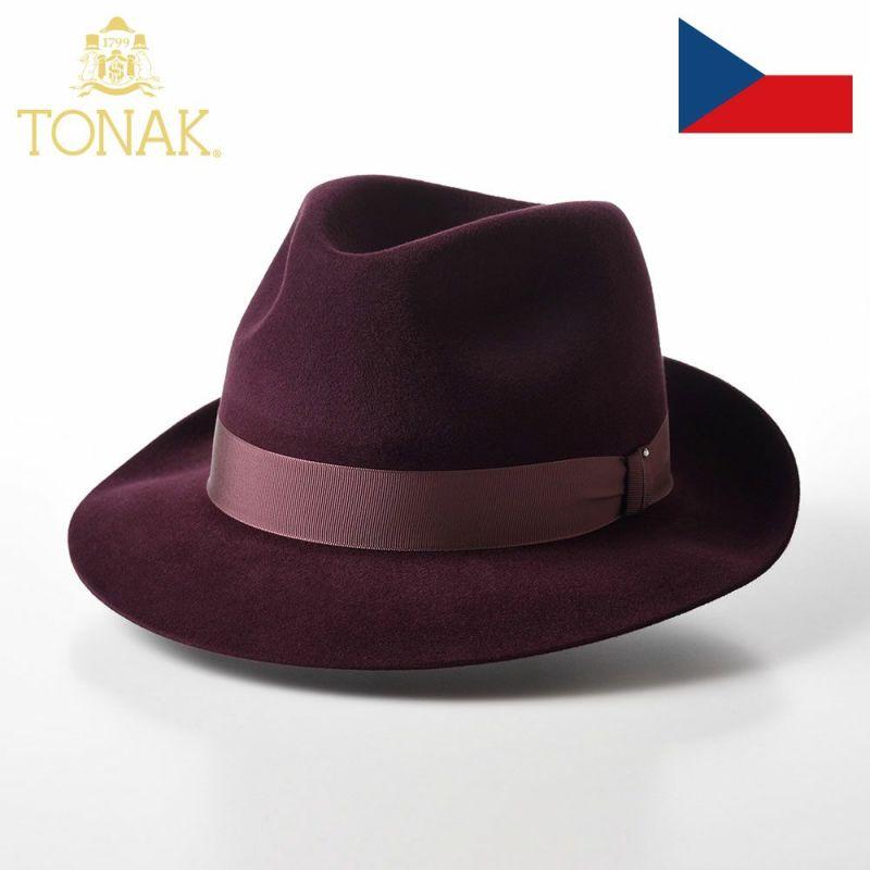 帽子 フェルトハット TONAK(トナック) PARFAIT(パルフェ)ワインレッド