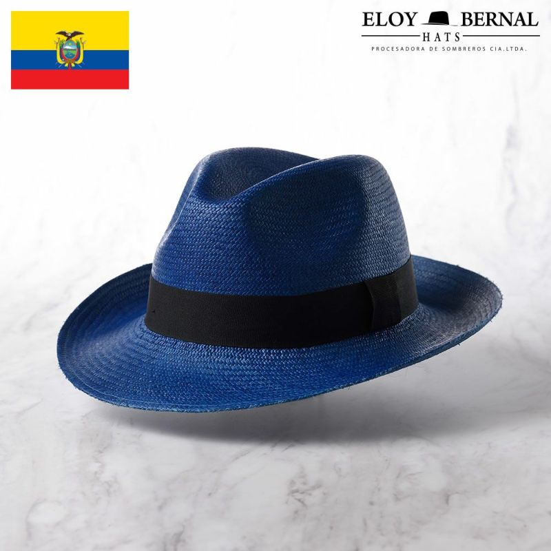 帽子 パナマハット ELOY BERNAL(エロイベルナール) PALETA(パレッタ)ブルー