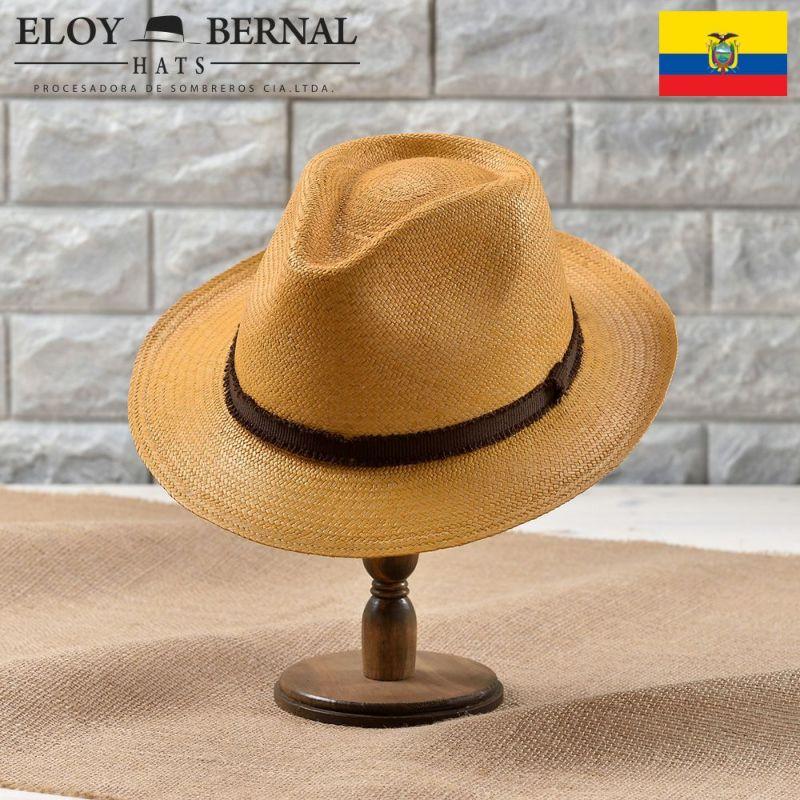 帽子 パナマハット ELOY BERNAL(エロイベルナール) PUERTA(プエルタ)タバコ