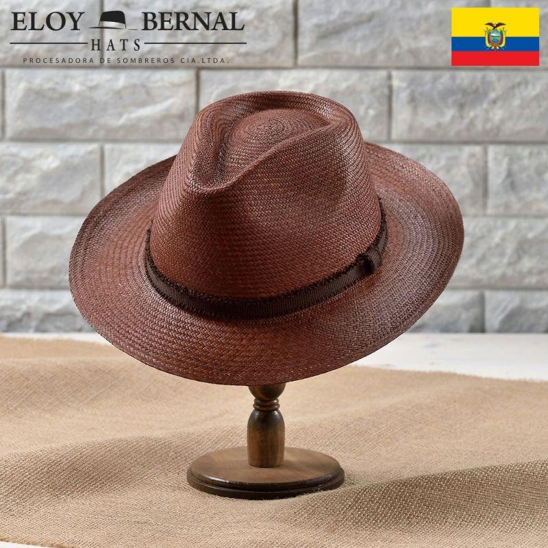 帽子 パナマハット ELOY BERNAL(エロイベルナール) PUERTA(プエルタ)ブラウン