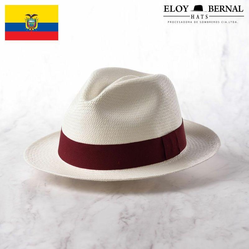 帽子 パナマハット ELOY BERNAL(エロイベルナール) Acuarela(アクアレーラ)ワインレッド