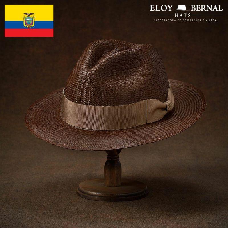帽子 パナマハット ELOY BERNAL(エロイベルナール) Fijo(フィージョ)ブラウン