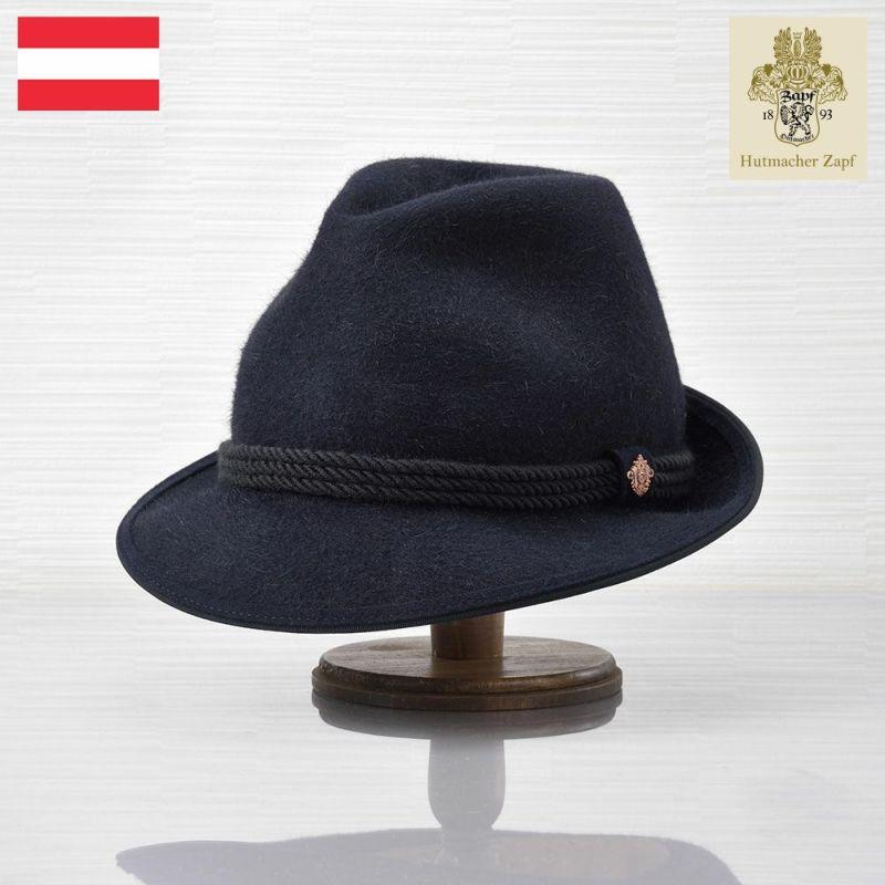 帽子 フェルトハット Zapf(ツァップ) Brandhof Rabbit Blau(ブランドホフ ラビット ブラウ)
