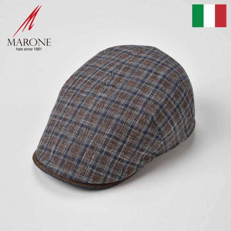 帽子 ハンチング MARONE(マローネ) Plaid Marone(プレイド マローネ)ブラウン