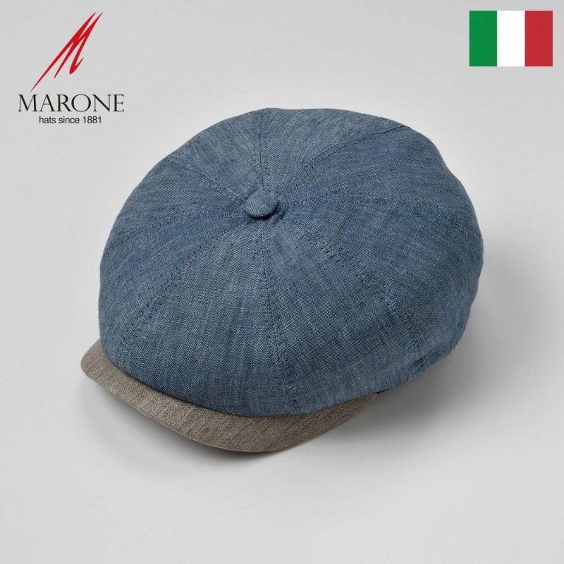 帽子 ハンチング MARONE(マローネ) Domani(ドマーニ)ブルー
