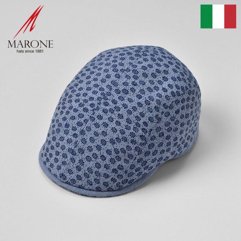 帽子 ハンチング MARONE(マローネ) Piccolo Fiore(ピッコロ フィオーレ)ブルー