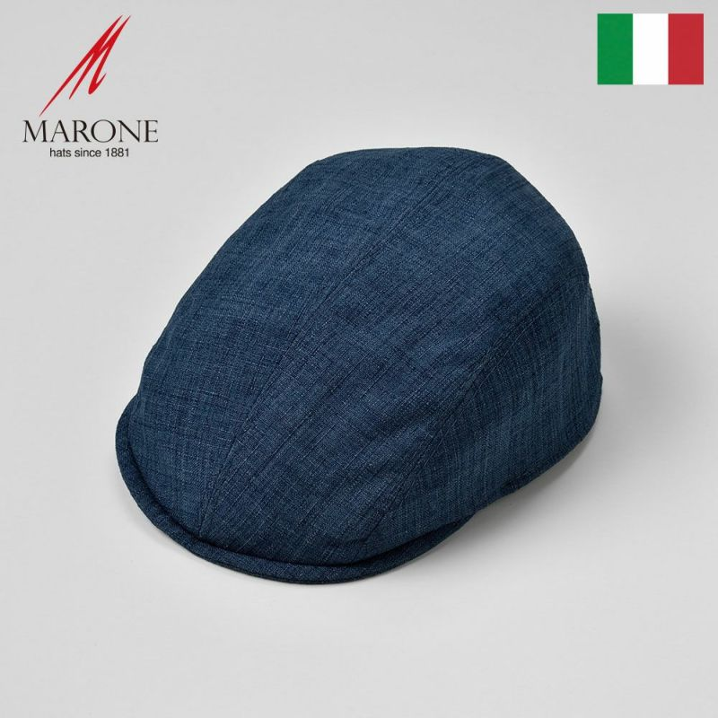 帽子 ハンチング MARONE(マローネ) Falco(ファルコ)ネイビー