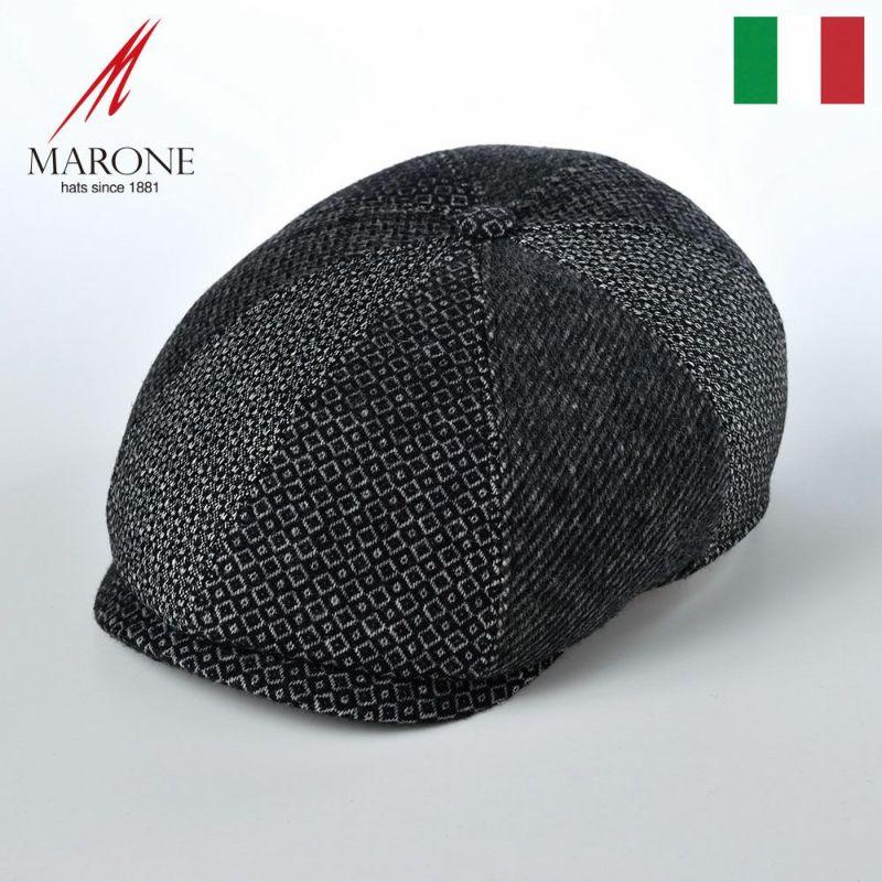 帽子 キャスケット MARONE(マローネ) Galles Wool(ウェールズ ウール)BT910グレー