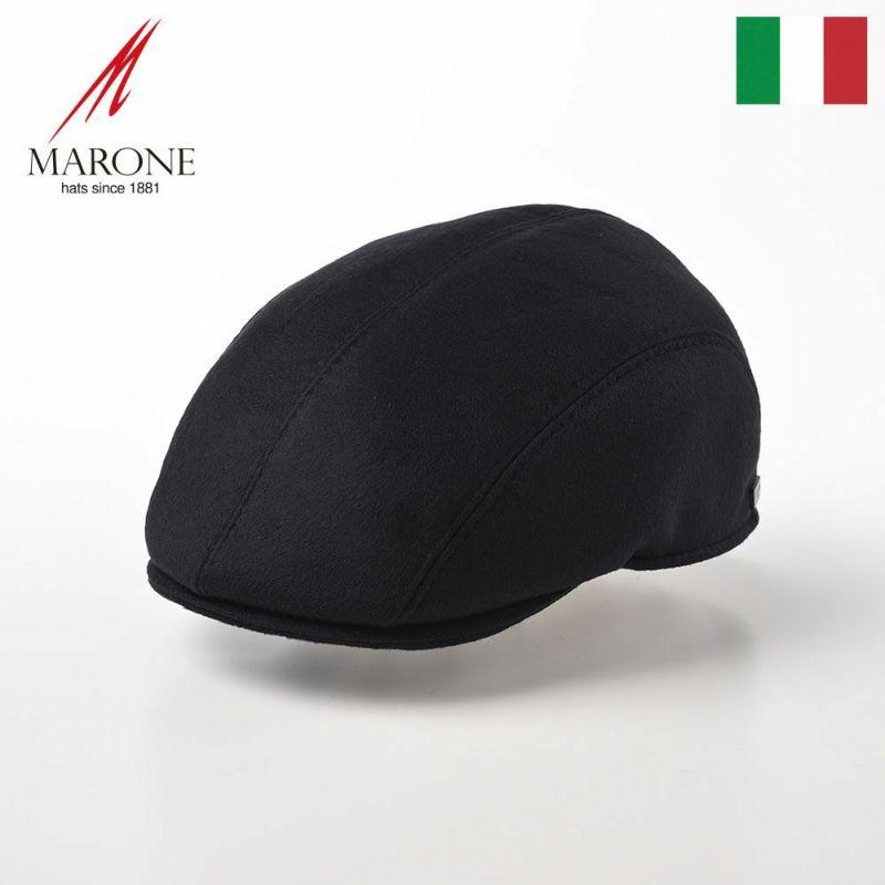 帽子 ハンチング MARONE(マローネ) Urano Cashmere(ウラーノ カシミヤ)B202Dネイビー