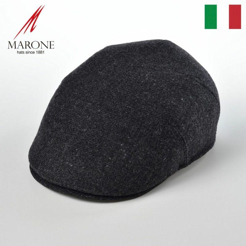帽子 ハンチング MARONE(マローネ) One Panel Berretto Virgin Wool(ワンパネルベレット ヴァージンウール)BT866ブラック