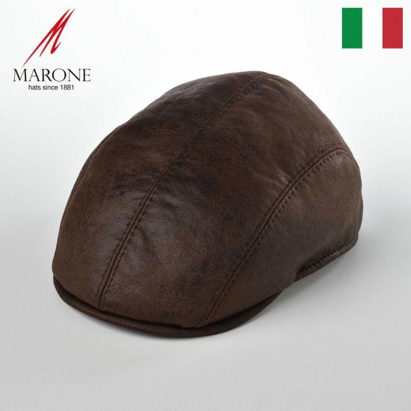 帽子 ハンチング MARONE(マローネ) Four Panel Berretto(フォーパネルベレット)BT854ブラウン