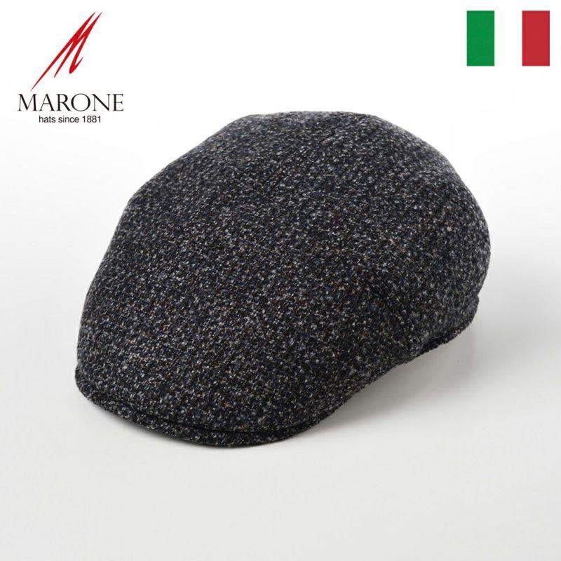帽子 ハンチング MARONE(マローネ) One Panel Berretto(ワンパネルベレット)BT867ブルー
