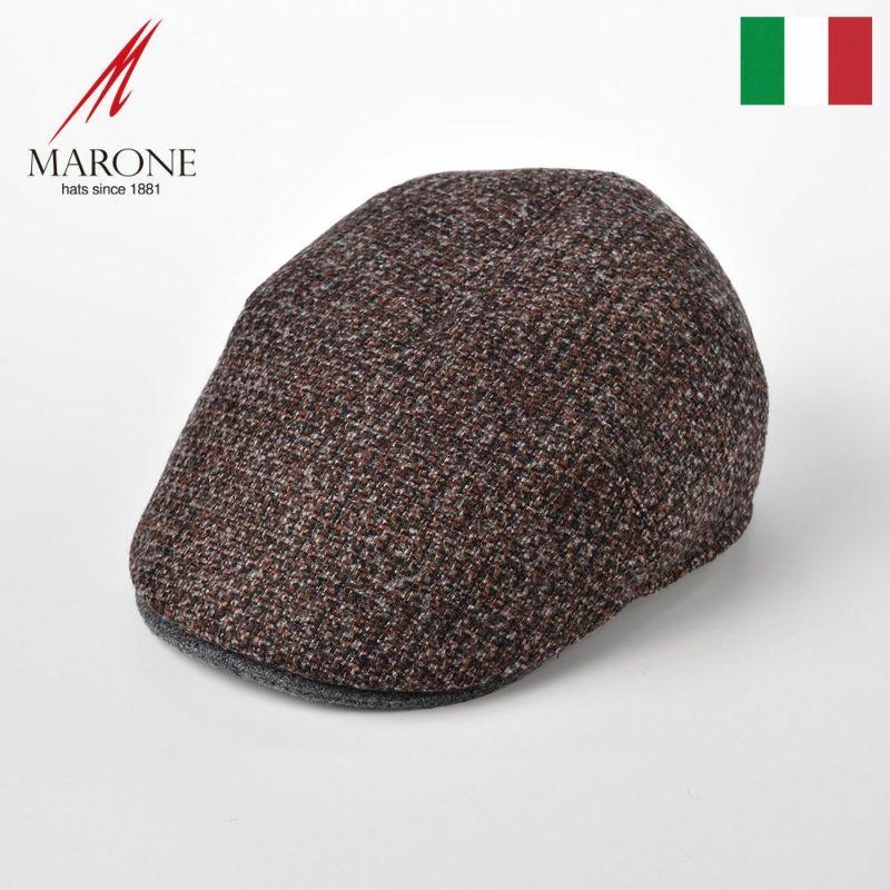 帽子 ハンチング MARONE(マローネ) One Panel Berretto(ワンパネルベレット)BT867レッドブラウン