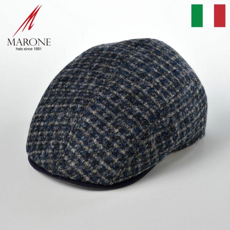 帽子 ハンチング MARONE(マローネ) Four Panel Berretto(フォーパネルベレット)BT851ブルーグレー
