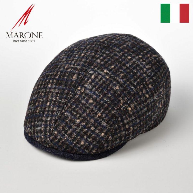帽子 ハンチング MARONE(マローネ) Four Panel Berretto(フォーパネルベレット)BT883ネイビー