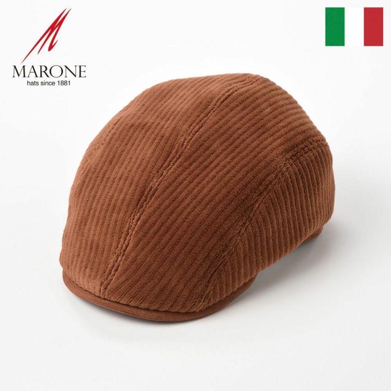 帽子 ハンチング MARONE(マローネ) Four Panel Berretto Corduroy(フォーパネルベレット コーデュロイ)BT882コニャック