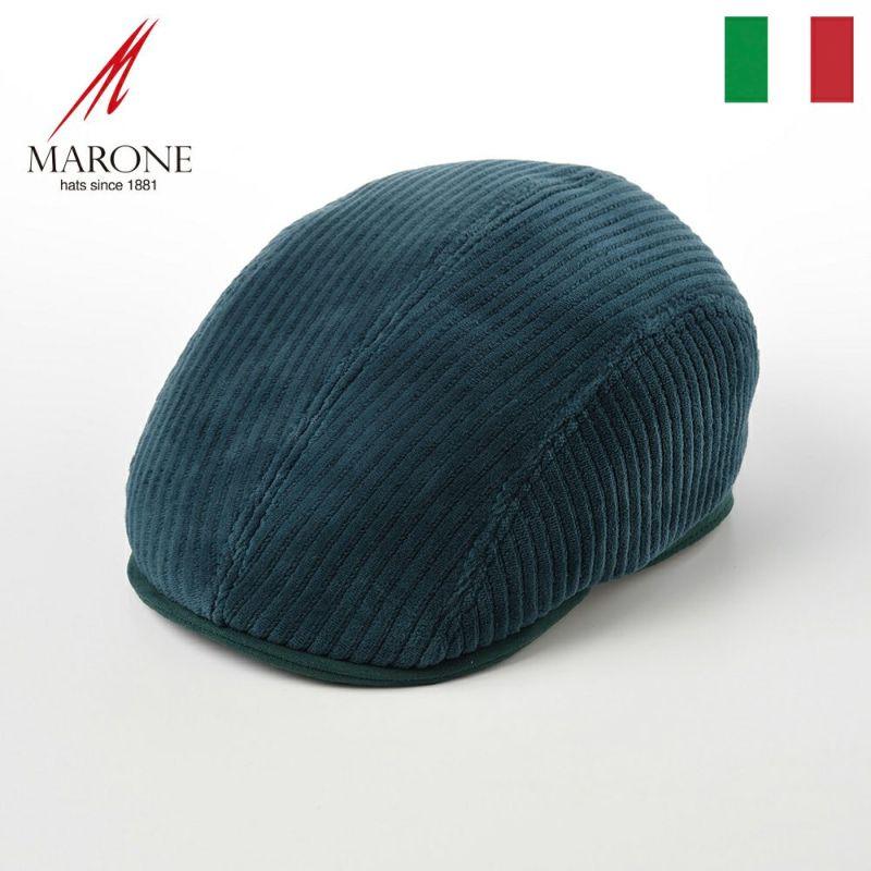 帽子 ハンチング MARONE(マローネ) Four Panel Berretto Corduroy(フォーパネルベレット コーデュロイ)BT882グリーン