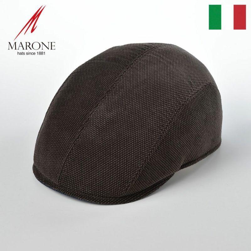 帽子 ハンチング MARONE(マローネ) Four Panel Berretto(フォーパネルベレット)BT881ブラウン
