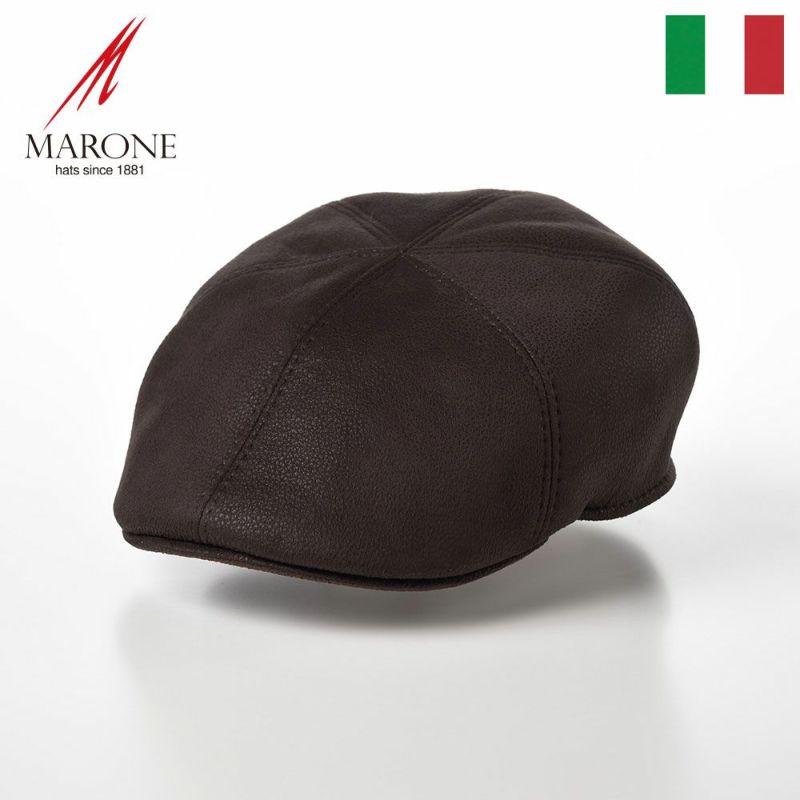 帽子 ハンチング MARONE(マローネ) Detroit Six Panel(デトロイト シックスパネル)BT858ブラウン