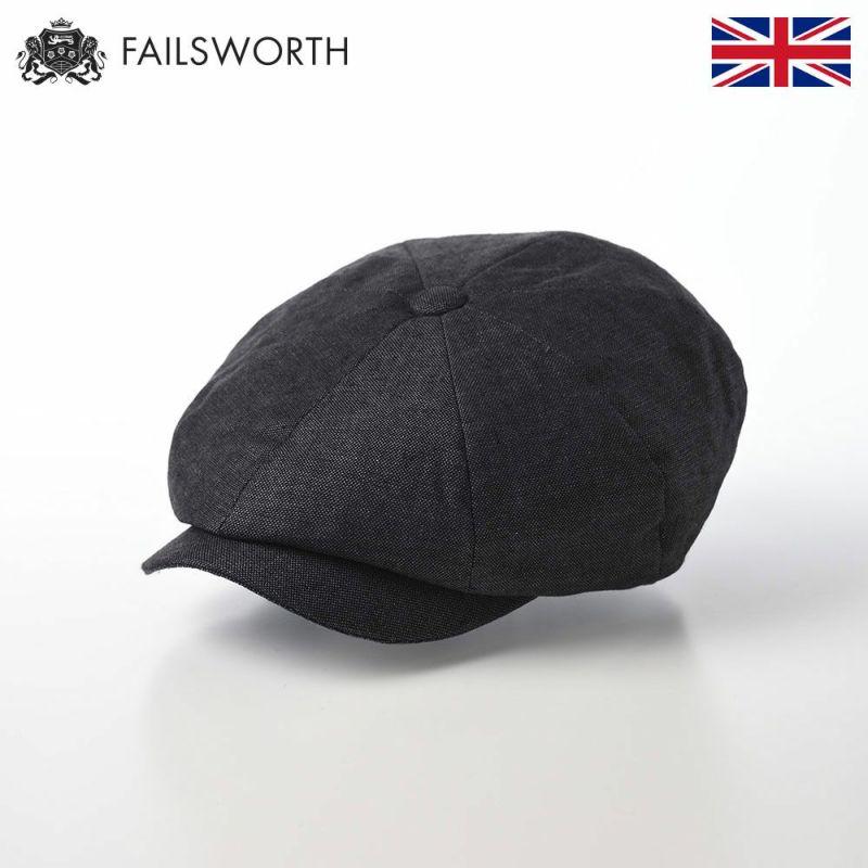 帽子 キャスケット FAILSWORTH(フェイルスワース) Irish Linen Alfie(アイリッシュリネン アルフィー)チャコール