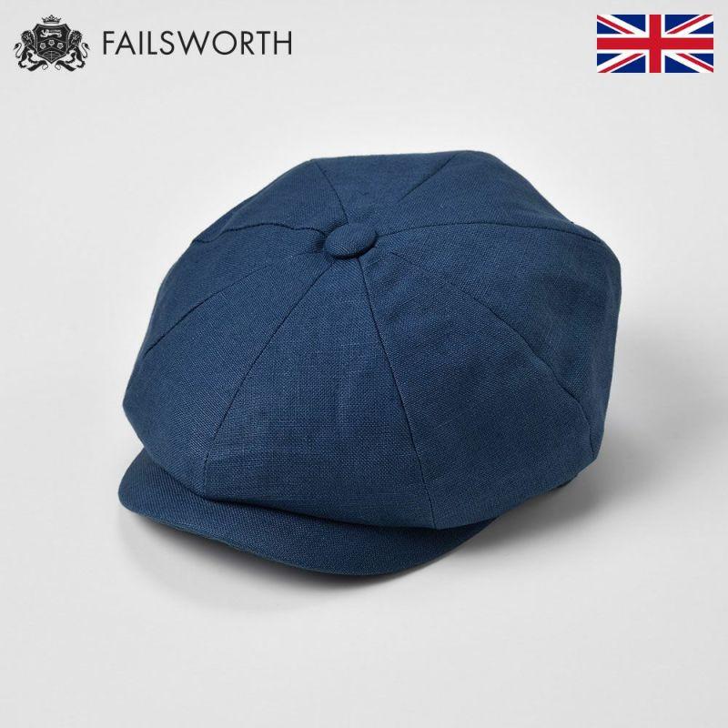 帽子 キャスケット FAILSWORTH(フェイルスワース) Irish Linen Alfie(アイリッシュリネン アルフィー)デニム