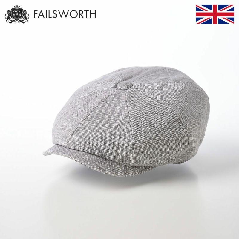 帽子 キャスケット FAILSWORTH(フェイルスワース) Irish Linen Alfie(アイリッシュリネン アルフィー)ダブグレー