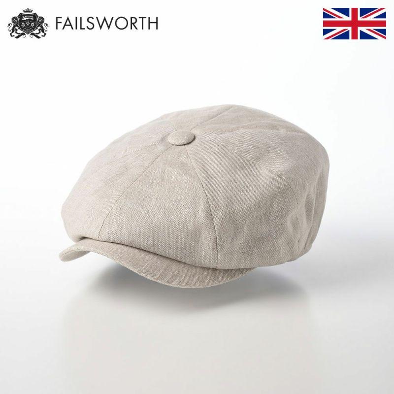 帽子 キャスケット FAILSWORTH(フェイルスワース) Irish Linen Alfie(アイリッシュリネン アルフィー)ナチュラル