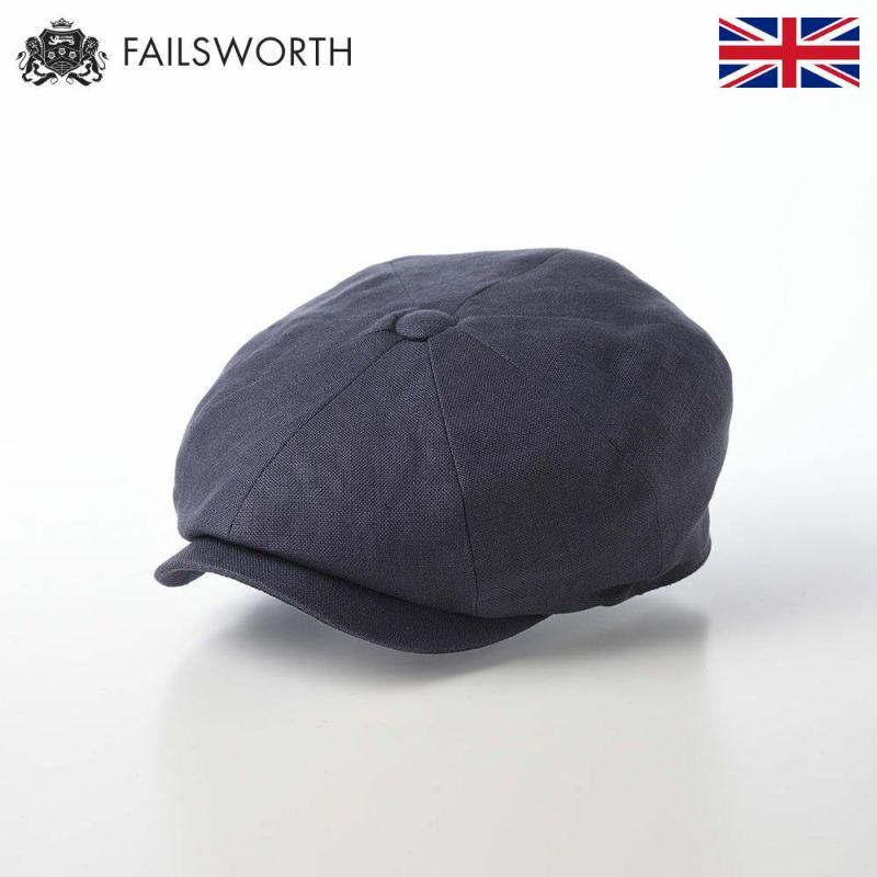 帽子 キャスケット FAILSWORTH(フェイルスワース) Irish Linen Alfie(アイリッシュリネン アルフィー)ネイビー