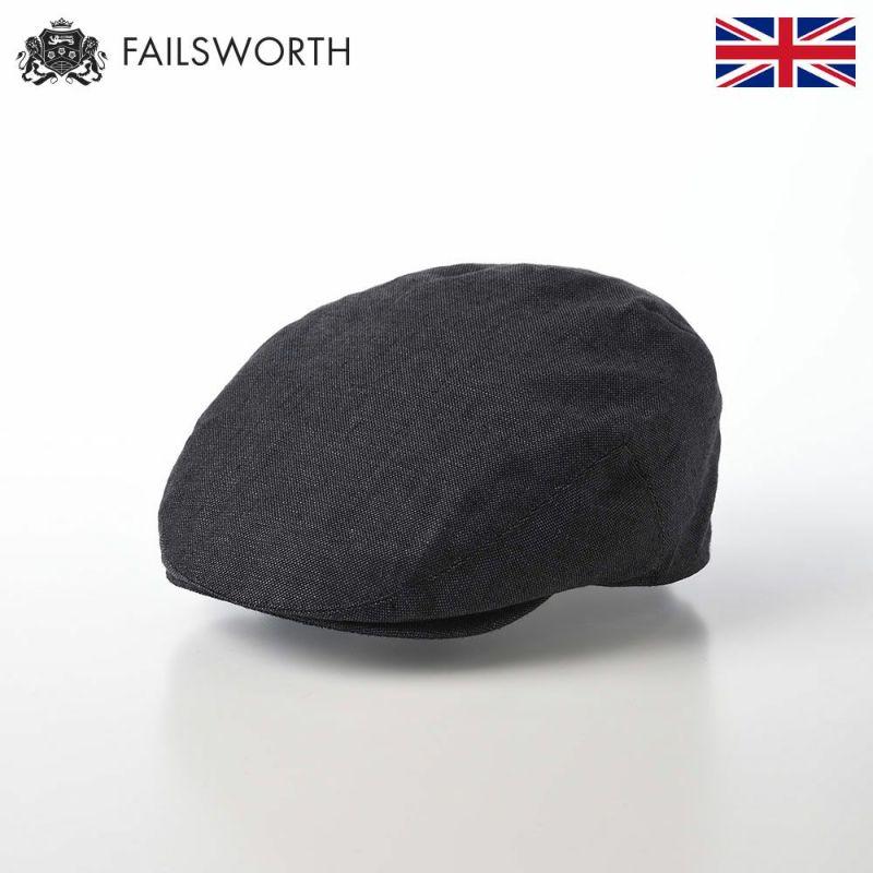 帽子 ハンチング FAILSWORTH(フェイルスワース) Irish Linen Cap(アイリッシュリネン キャップ)チャコール