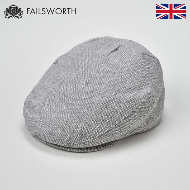 帽子 ハンチング FAILSWORTH(フェイルスワース) Irish Linen Cap(アイリッシュリネン キャップ)ダブグレー
