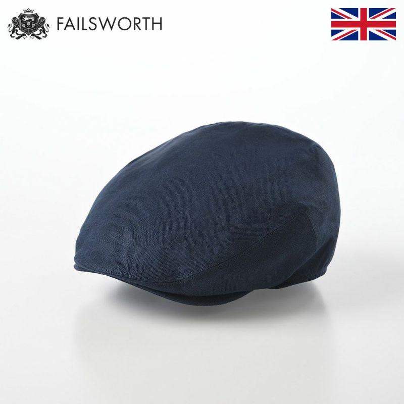 帽子 ハンチング FAILSWORTH(フェイルスワース) Irish Linen Cap(アイリッシュリネン キャップ)ネイビー