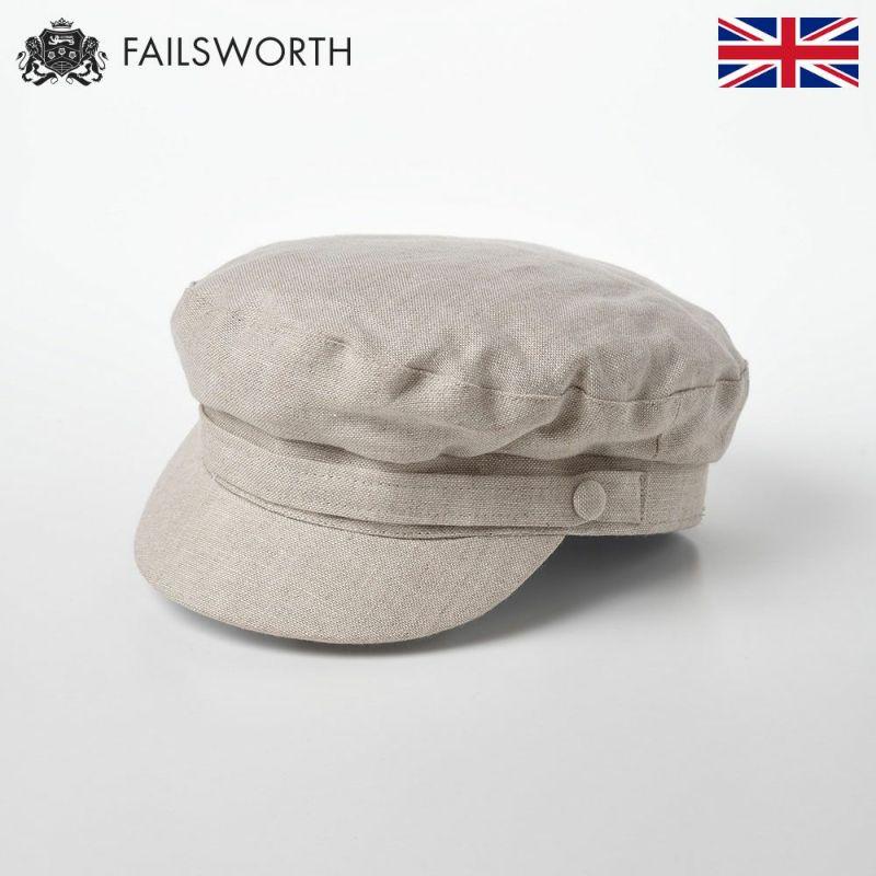 帽子 マリンキャップ FAILSWORTH(フェイルスワース) Irish Linen Mariner(アイリッシュリネン マリナー)ビスケット