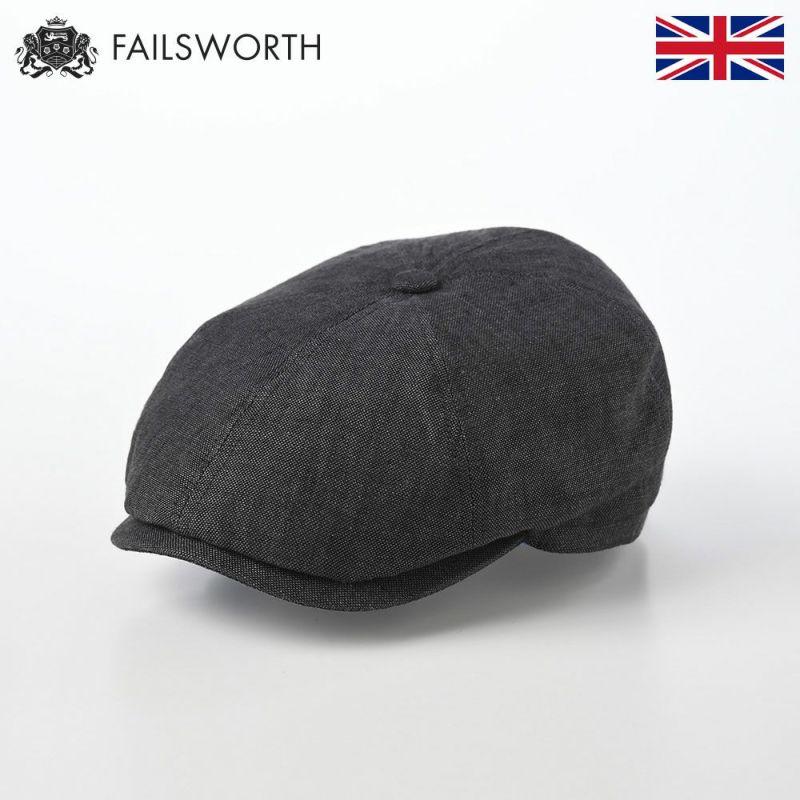 帽子 キャスケット FAILSWORTH(フェイルスワース) Irish Linen Hudson(アイリッシュリネン ハドソン)チャコール