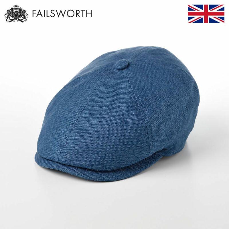 帽子 キャスケット FAILSWORTH(フェイルスワース) Irish Linen Hudson(アイリッシュリネン ハドソン)デニム