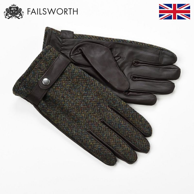 帽子 手袋 FAILSWORTH(フェイルスワース) Harris Tweed Glove(ハリスツイード グローブ)2016