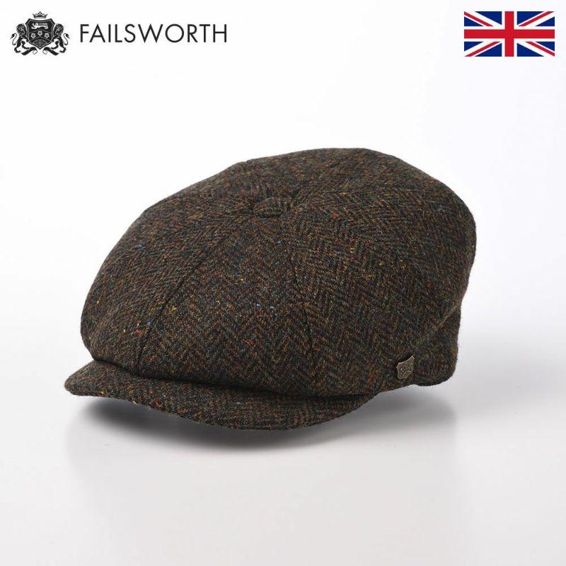 帽子 キャスケット FAILSWORTH(フェイルスワース) Harris Tweed Carloway(ハリスツイード キャロウェイ)3003