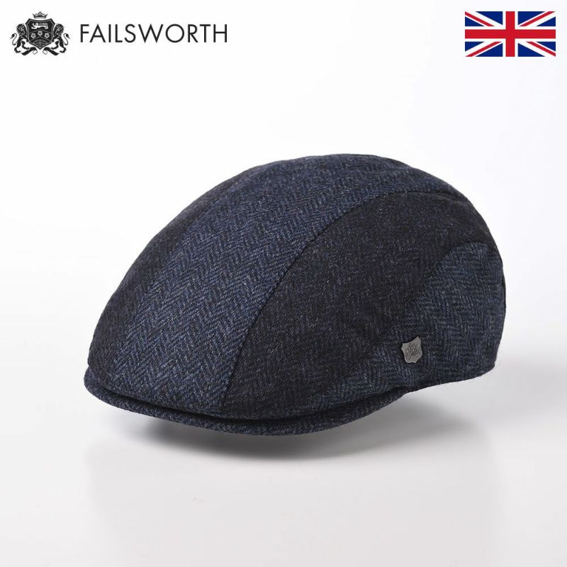 帽子 ハンチング FAILSWORTH(フェイルスワース) Mallalieus Dalston(マラリウス ダルストン)ブルー