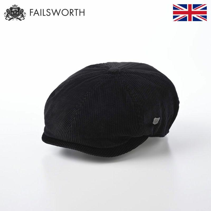 帽子 ハンチング FAILSWORTH(フェイルスワース) Hudson Corduroy(ハドソン コーデュロイ)ブラック