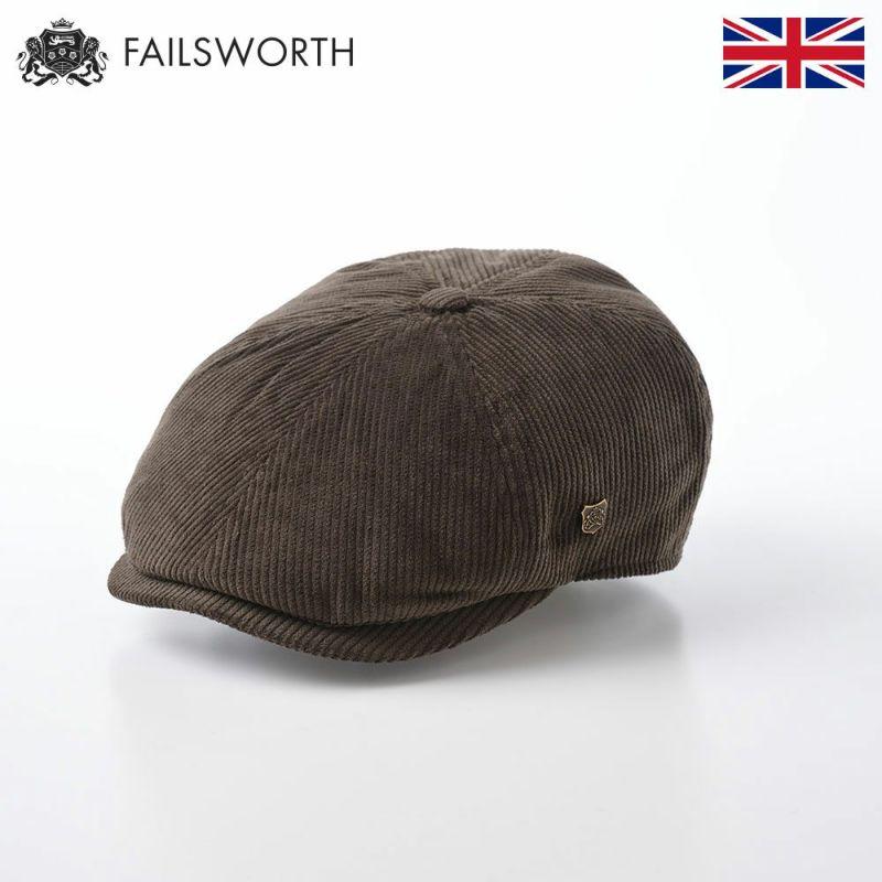 帽子 ハンチング FAILSWORTH(フェイルスワース) Hudson Corduroy(ハドソン コーデュロイ)オリーブ