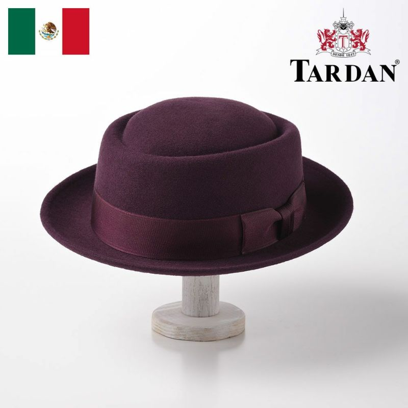 帽子 フェルトハット TARDAN(タルダン) PORK-PIE CONFORT(ポークパイ コンフォート)バイオレット