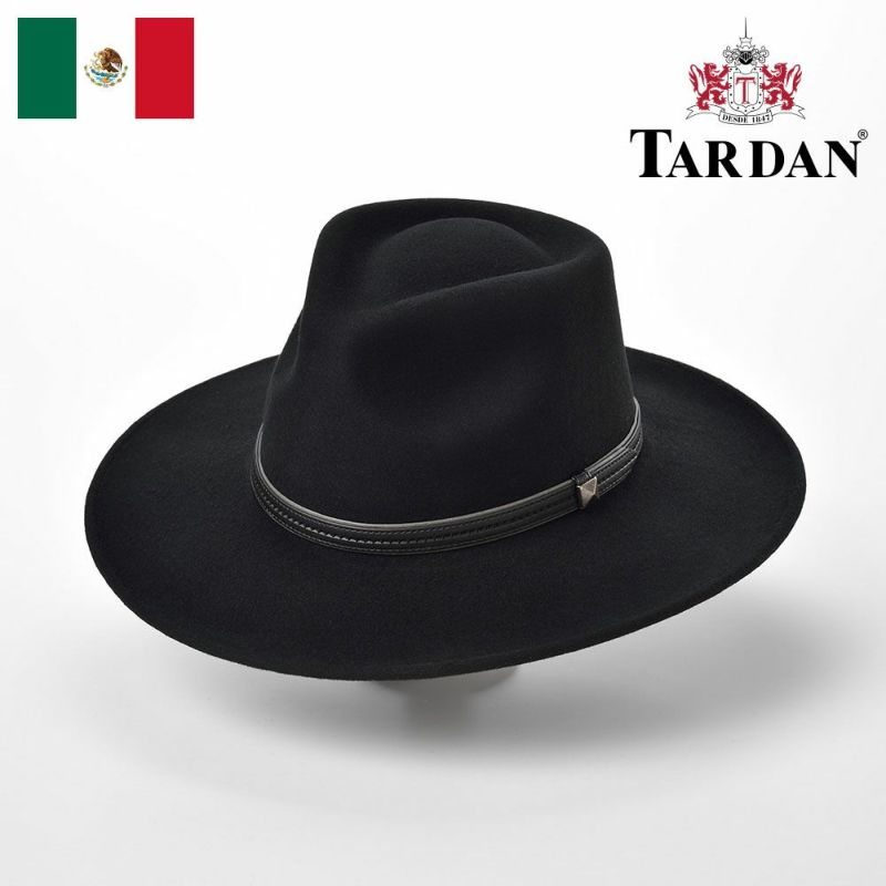 帽子 ウエスタンハット TARDAN(タルダン) AUSTRALIANO CONFORT(オーストラリアーノ コンフォート)ブラック